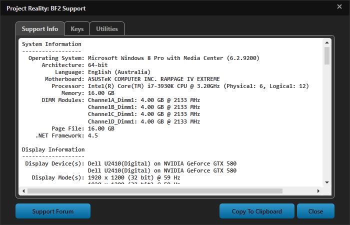 [PR BF2] Le lanceur et les mises à jour coté v1.0 Supportinfo